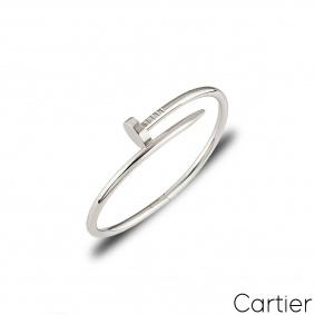 Cartier White Gold Plain Juste Un Clou Bracelet Size 16 B6048316